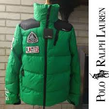 new m mens polo ralph lauren down puffer coat green rlx radial italy expedition