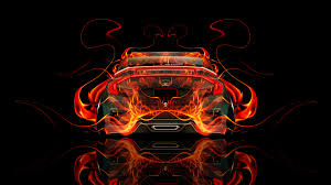 honda civic jdm fire abstract car