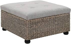vidaXL <b>Ottoman Seagrass 65x65x40 cm</b> Grey: Amazon.co.uk ...