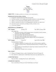 Customer Service Skills List For Resume Resume Template Info