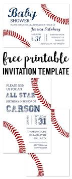 print free birthday invitations baseball party invitations free printable free printables from