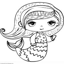 Cute Mermaid Coloring Pages Download Jokingartcom Cute Mermaid