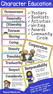 best education posters ideas class rules character education posters writing activities awards for character traits