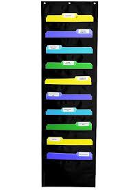 Amazon Com Carson Dellosa Storage Pocket Chart Black