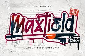 Graffiti Font Free Maxtield Graffiti Font Free Display Fonts Pixelify Net