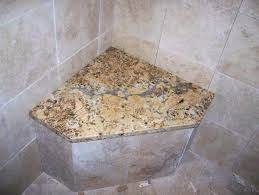 built in shower seat height corner bench seats benches granite