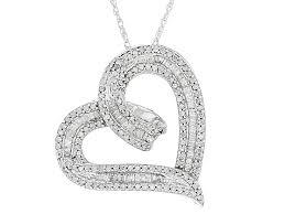 white diamond rhodium over sterling silver pendant 70ctw hsd077 jtv com