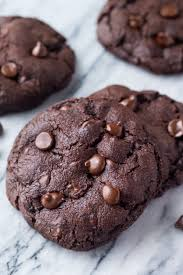 gooey double chocolate chip cookies. Wonderful Gooey These Bakery Style Double Chocolate Chip Cookies Are Fudgy Gooey Gigantic  And Just About With Gooey Double Chocolate Chip Cookies P