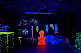 halloween party lighting. UV Instillation For SHOWstudio Halloween Party Loosely Based On Aleister Crowley\u0027s Abbey Of Thelema Lighting G