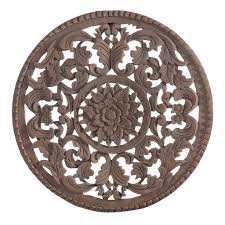 medium round wooden wall art exotic traveller temple webster in the with regard to round wood