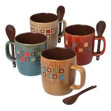 amazoncom  mr coffee piece cafe americano mug set with spoons