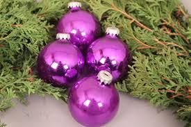 Christbaumschmuck Weihnachtskugeln Lila Anhänger Glas Deko Weihnachten Advent