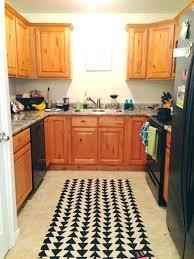 red kitchen mat