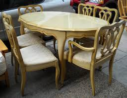 antique french oak dining table and chairs. beautiful high gloss finished creamy oak wood french provincial dining table and chairs with cabriole legs style chair antique l