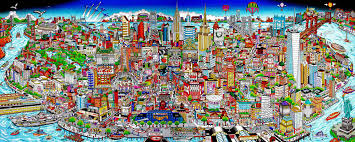 Art New York City Pop Art New York Street Scenes Charles Fazzino