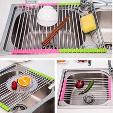 Over The Sink Drying Rack Popular Stainless Steel Dish Drainer Tray Buy Cheap Stainless