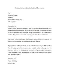 Examples Of Cover Letters For Administrative Assistant