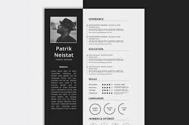 Free Simple Resume Cv Template Photoshop Psd Format Creativebooster