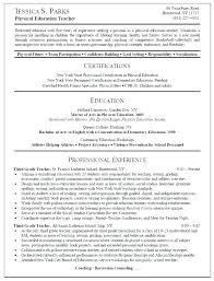 Resume Examples For College Gorgeous High School Math Teacher Resume Examples Elementary Template R Best