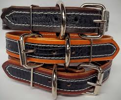 genuine leather hand made in usa dog collar exotic gator embossed print 1 25 inch black