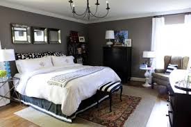 Amazing Photos Of Bedroom Decorating Painted Charcoal Gray Walls0white  Bedding Black Dresser Decorating Ideas