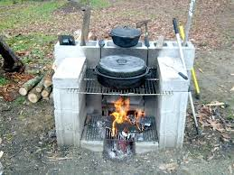 backyard fireplace grill outdoor and diy
