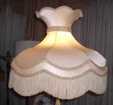 lampshade victorian crown red recover repair shade