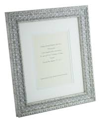 ornate silver shabby chic vintage picture frame white