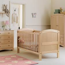 Cute Baby Bedding Design Ideas With White Wall Paint Brown Wooden Crib  Softy Mattress Pink Fur