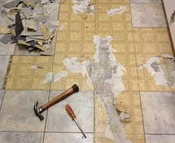 we spent about a month working several hours each weekend and a couple of nights a week removing the old flooring