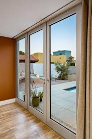 indoor outdoor metal frame glass doors