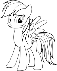 Small Picture My Little Pony Rainbow Dash Coloring Page Rainbow Coloring Pages