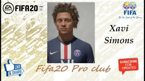 FIFA 20 Xavi Simons Look alike in PSG // Fifa20 Pro club // Re upload -  YouTube