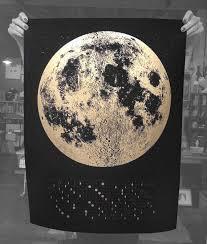 Wall Calendar 2020 Moon Calendar 2020 Lunar Calendar Home Decor Moon Phase Calendars Moon Art Large Silver Gold Copper Space Art
