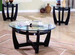 3 piece living room table sets glass