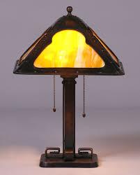 bradley hubbard bronze prairie school square lamp c1910 1920