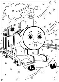 Thomas And Friends Coloring Pages Winter Coloringstar
