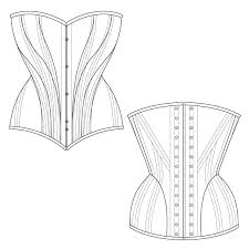 Corset Pattern Free Simple Download This Free Corset Pattern And Start Constructing Your Own