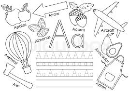 See more ideas about english alphabet letters, letter b worksheets, printable alphabet letters. Letter A Learning English Alphabet Stock Vector Colourbox