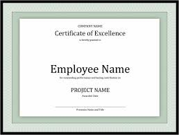 Certificates Office Com Certificate Of Excellence For Employee