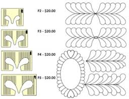 Sew Steady WT-F Westalee Feather Template Ruler Choose Size 2, 3 ... & Sew Steady WT-F Westalee Feather Template Ruler Choose Size 2, 3, 4 Adamdwight.com