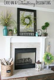 shabby chic fireplace mantel ideas brown wooden floor gallery art mantel decoration fireplace ideas