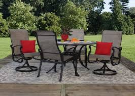 st augustine 5 piece cast aluminum sling patio furniture dining set jpg
