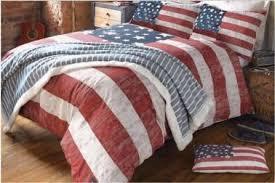 American Flag Red White Blue forter & Bedding Sets