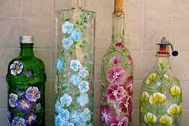 Recycle Craft; Decorative Painted Bottle Ideas ~ Crafts