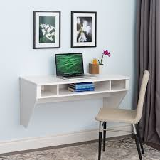 com wall mounted designer floating desk in white kitchen dining