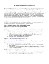 ecological footprints sustainability assignment ms laura branch pop 4 ecological footprints assign