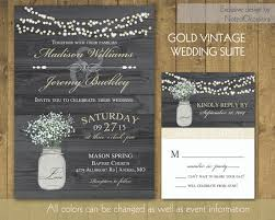 rustic wedding invitations in gold with mason jar 2227402 weddbook Wedding Invitations Jars rustic wedding invitations in gold with mason jar wedding invitations rsvp