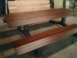 industrial style outdoor furniture. outdoor modern industrial style ipe picnic table the farmhouse furniture