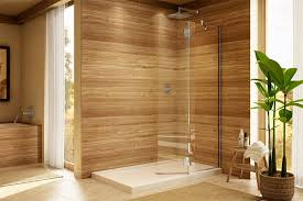 frameless shower door with textured glass in columbia md